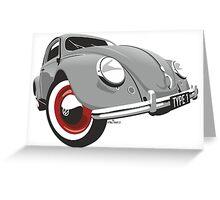 VW Beetle type 1 grey Greeting Card
