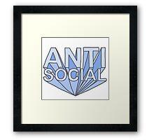 Antisocial  Framed Print
