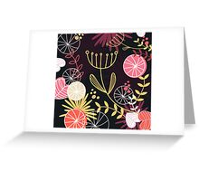 Retro floral Exclusive pattern background Greeting Card