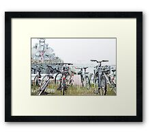 Bikes and Boats Framed Print