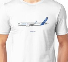 Airbus A320 with Sharklets Unisex T-Shirt