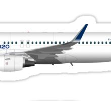 Airbus A320 with Sharklets Sticker