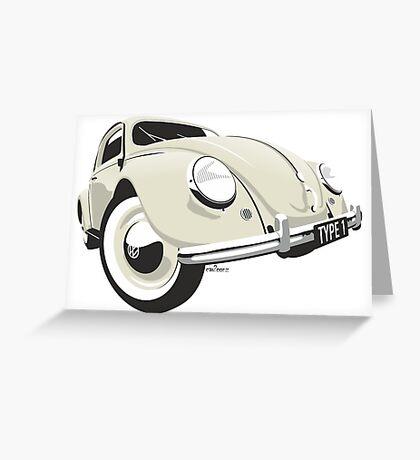 VW Beetle type 1 cream Greeting Card