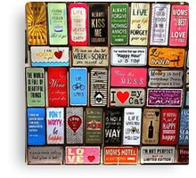 Signs Of The Time Inspirational Mosaic Canvas Print