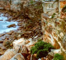 Rocky path to Coogee Sticker