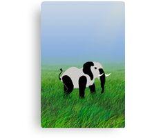 Panda-Phant in the Prairie VRS2 Canvas Print