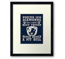 Pit Bull Are The Best Friend Framed Print
