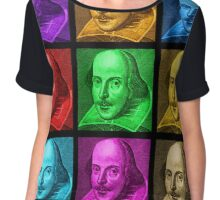 William Shakespeare Pop Art Women's Chiffon Top
