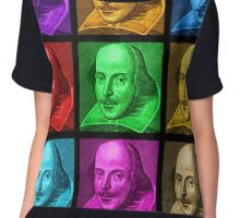 William Shakespeare Pop Art Chiffon Top