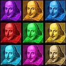 William Shakespeare Pop Art by Sally McLean