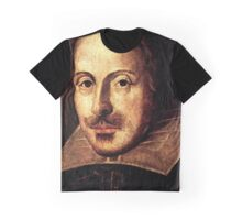 William Shakespeare Portrait Graphic T-Shirt