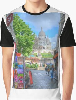 Sacre Couer .. Street View Graphic T-Shirt