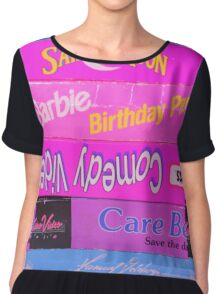 Vhs player slayer  Chiffon Top