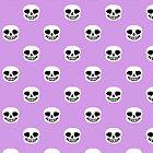 Undertale Sans Pattern - Pastel Purple by sophjade