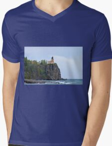 Upon The Rock Mens V-Neck T-Shirt