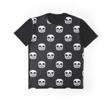 Undertale Sans Pattern - Black Graphic T-Shirt