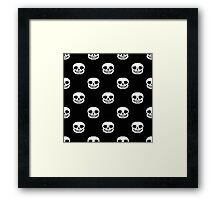 Undertale Sans Pattern - Black Framed Print