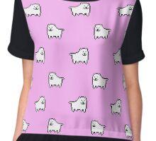 Undertale Annoying Dog - Pastel Pink Chiffon Top