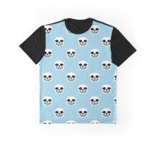 Undertale Sans Pattern - Pastel Blue Graphic T-Shirt