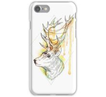 Watercolor stag iPhone Case/Skin