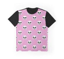Undertale Sans Pattern - Pastel Pink Graphic T-Shirt