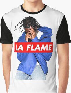 Travi$ Scott - La Flame (Colour) Graphic T-Shirt
