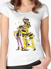 lucky luke Women's Fitted Scoop T-Shirt