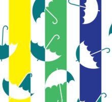 Rinbow umbrellas Sticker