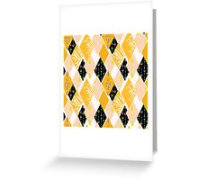 Patchwork floral seamless pattern texture background Greeting Card