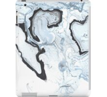 Blue and black marble iPad Case/Skin