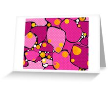 Seamless abstract pattern with circles ornamental elements modern background Greeting Card