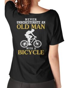 Bicycle Old Man  Women's Relaxed Fit T-Shirt