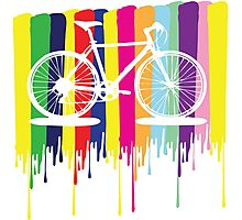 Rainbow bicycle Photographic Print