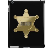 Sheriff golden star iPad Case/Skin