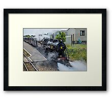 Steam train on the Romney Hythe and Dymchurch Railway, Kent Framed Print