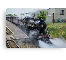 Steam train on the Romney Hythe and Dymchurch Railway, Kent Canvas Print