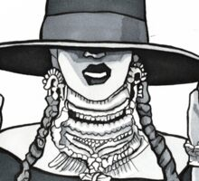 Beyonce Formation Cartoon Sticker