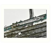 Abandoned fishing boat on Dungeness beach, Kent Art Print