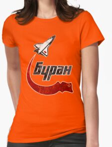CCCP Bypah Space Program Womens Fitted T-Shirt