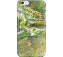 chameleon. color pencil iPhone Case/Skin