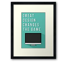 Great design changes the game - iMac Framed Print