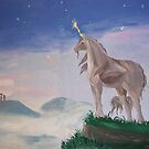 The Unicorn - Wall Painting by lezvee