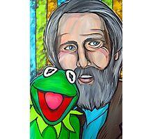 Jim Henson & Kermit the Frog Photographic Print