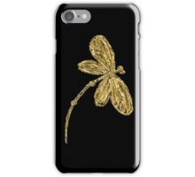Dragonfly iPhone Case Gold iPhone Case/Skin