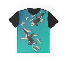 Orcas and Common Dolphins /Orcas und Gemeine Delfine Graphic T-Shirt