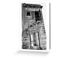 Abandoned Building In Monochrome Greeting Card