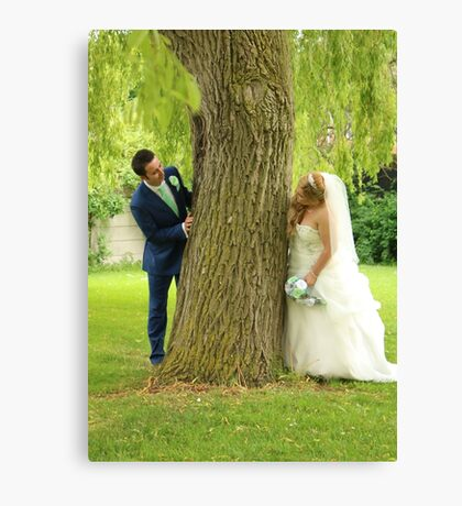 Laura & Connor (Bride & Groom) Canvas Print