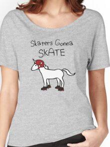 Skaters Gonna Skate (Unicorn Roller Derby) Women's Relaxed Fit T-Shirt
