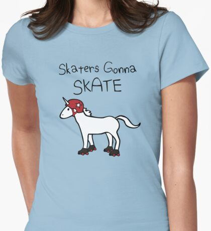 Skaters Gonna Skate (Unicorn Roller Derby) T-Shirt