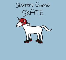 Skaters Gonna Skate (Unicorn Roller Derby) Womens Fitted T-Shirt